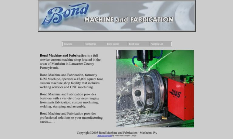 Bond Machine and Fabrication